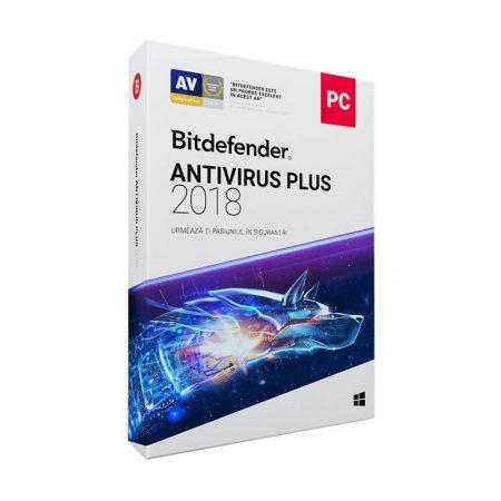 Bitdefender Antivirus Plus 2018 1 An 3 PC - licenta electronica